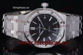 1:1 Audemars Piguet Royal Oak 15451ST.ZZ.1256ST.01 Clone AP Calibre 3120 Automatic Steel Black Dial (J12)