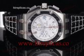 1:1 Audemars Piguet Royal Oak Offshore Juan Pablo Montoya 26030IO.OO.D001IN.01 Swiss Valjoux 7750 Automatic Steel White Dial (J12)