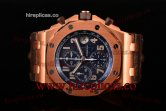 1:1 Clone Audemars Piguet Royal Oak Offshore pride of Argentina Chronograph 26470ST.00.A027CA.02 Swiss Valjoux 7750 Automatic Rose Gold Blue Dial(J12)