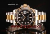 Rolex Submariner Miyota 9015 Automatic 116613 bk Two Tone Black Dial