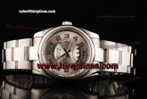 Rolex Air King 114200 scao Swiss ETA 2836 Automatic Steel Silver Dial Red Markers
