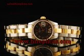 Rolex Datejust 26mm Ladies 179173 bkdro Swiss ETA 2671 Automatic Two Tone Black Dial