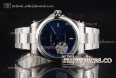 1:1 Rolex Oyster Perpetual Air King 114300-0001 Clone Rolex 3132 Automatic Steel Blue Rhodium Dial (JF)