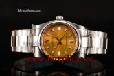 Rolex Air King 114200 yso Swiss ETA 2836 Automatic Steel Yellow Dial