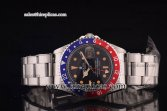 Rolex GMT-Master Vintage 116730OBN Asia 2813 Automatic Steel Black Dial Blue/Red Bezel Yellow Markers