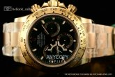 1:1 Rolex Daytona 116508 Clone Rolex 4130 Automatic Yellow Gold Green Dial(JH)