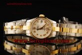 Rolex Datejust 26mm Ladies 179173 wdro Swiss ETA 2671 Automatic Two Tone White Dial
