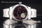 1:1 Rolex Oyster Perpetual Air King 114300-0002 Clone Rolex 3132 Automatic Steel Red Grape Dial (JF)